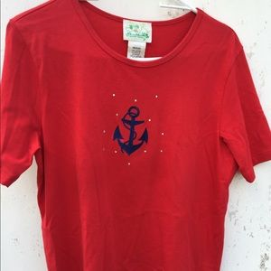 Quacker Factory nautical with sparkle top